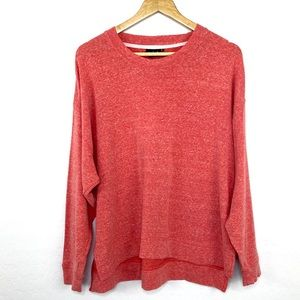 UO Out from Under peachy coral slouchy sweatshirt